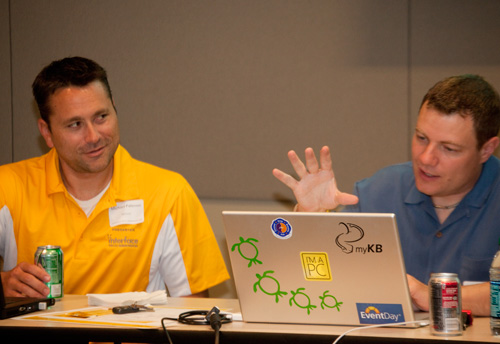 Microsft MVPs Michael Palermo and Scott Cate presenting at Tech Immersion 2011