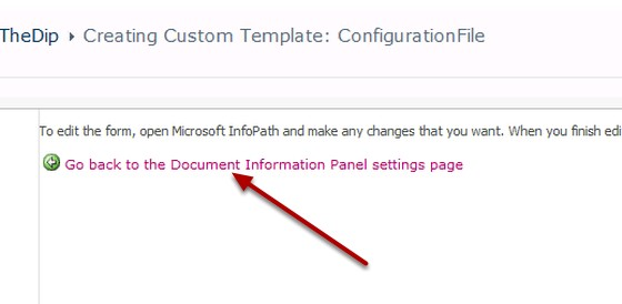 Document Information Panel settings