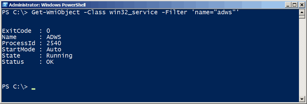 PS Services PowerShell