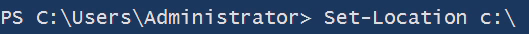 PowerShell for Admin Set Location C: