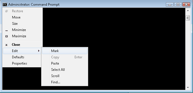Windows command prompt tricks - How to copy & paste text