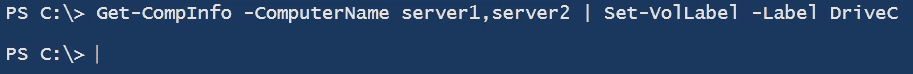 PowerShell Get CompInfo server drive label vollabel