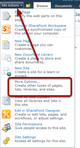 SharePoint 2010 Create a List From The Template image