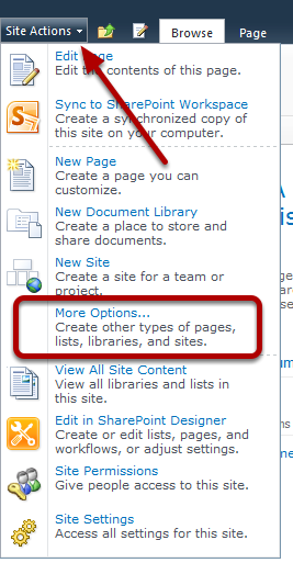 Types of sites sharepoint 2013.