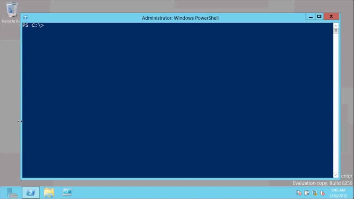PowerShell V3 Microsoft Windows Server 2012