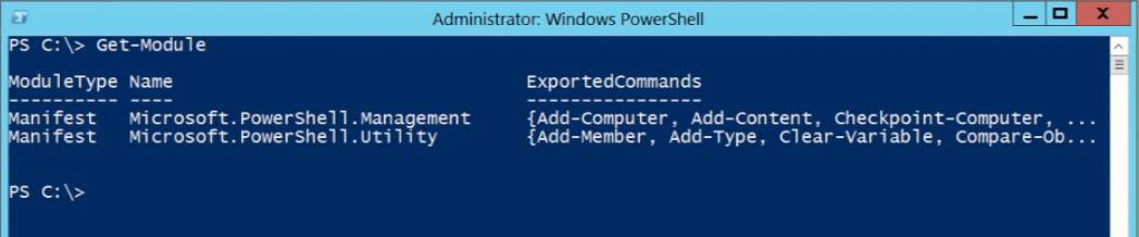 modules PowerShell v3 Windows Server 2012