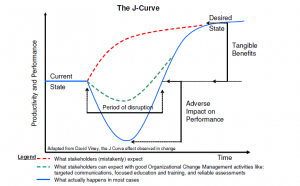 PMP J-curve Leading Change