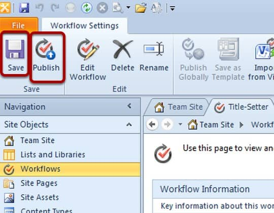 sharepoint designer 2010 workflow