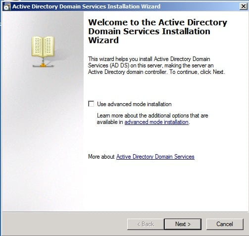 Advanced Installation Active Directory Child Domain AD DS Windows Server