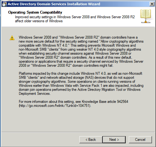 Opertating System Compatibility Active Directory Domain Services AD DS Windows Server