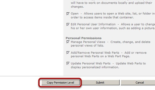 Copy-Existing-Permission custom security level on a SharePoint Site 4