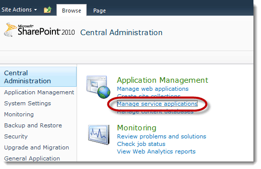 Manage Service Applications How to set up a Content Type Hub SharePoint 2010
