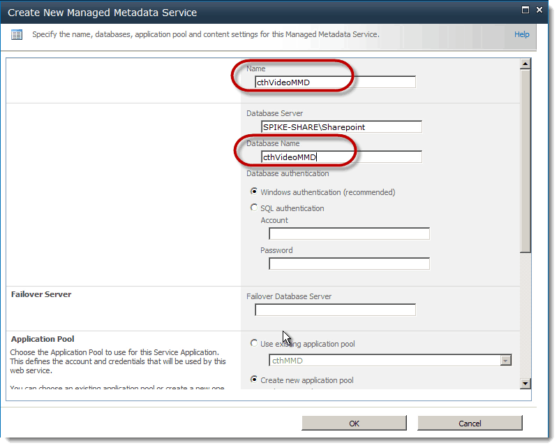 modal window databse name How to set up a Content Type Hub SharePoint 2010