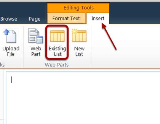 Insert First Web Part SharePoint 2010