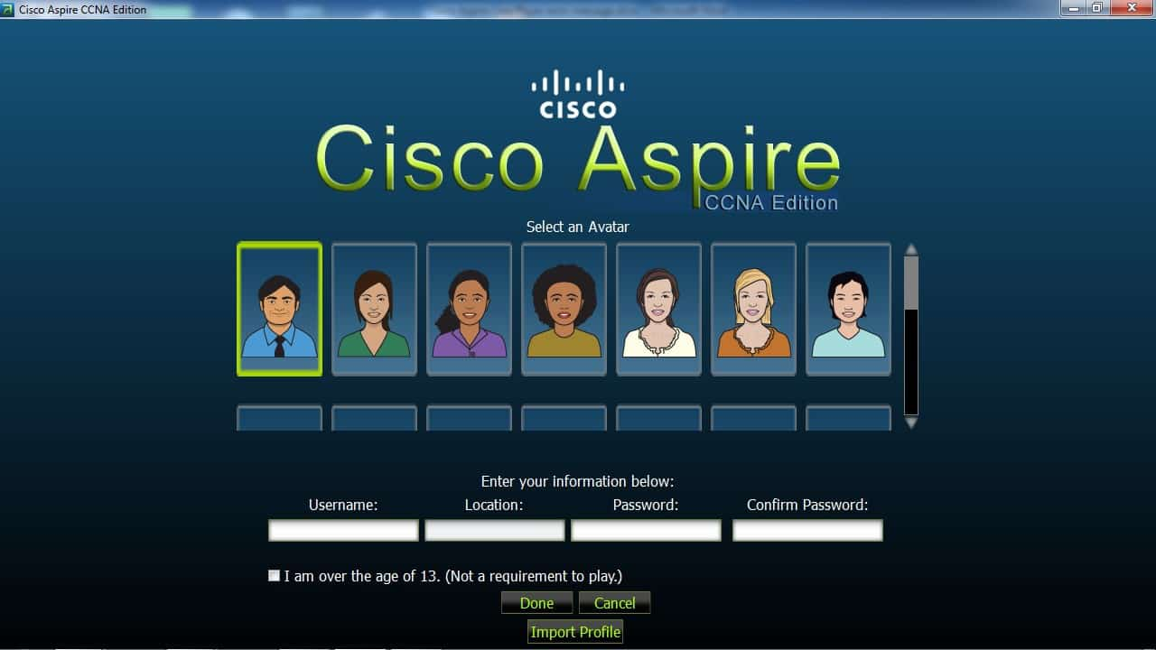 Avitar Cisco Aspire a Fun CCNA Certification Game