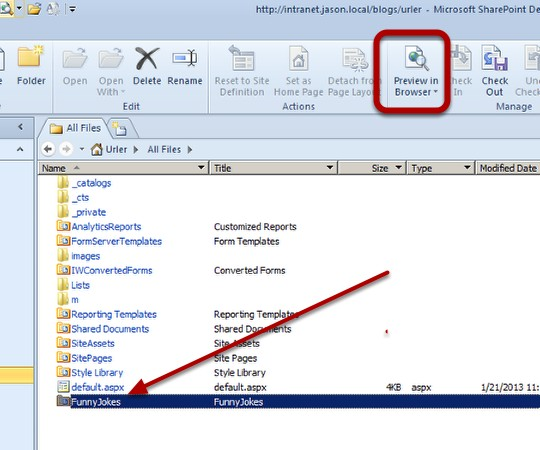 how to create url in sharepoint 2010