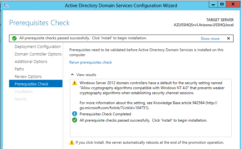 How to add a child domain in AD DS forest in Windows Server 2012