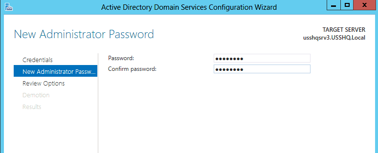 How to demote a Domain Controller in Windows Server 2012 (AD DS)