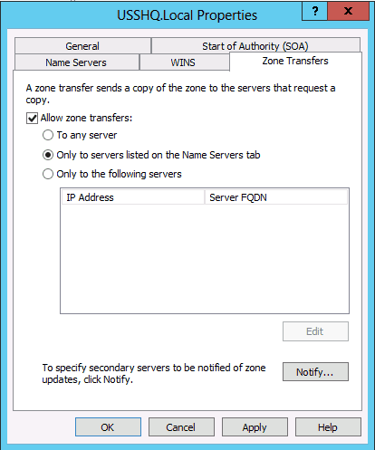 How to configure a DNS Secondary Zone in Windows Server 2008 & 2012