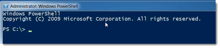 PowerShell Console Exchange Management Shell (EMS)