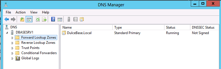DNS Manager configuring DNS Stub Zone in Win Server 2012