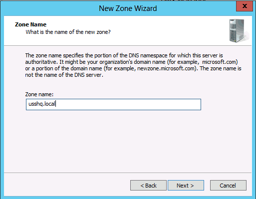 new zone wizard step 2 DNS Secondary Zone Windows Server 2008 2012