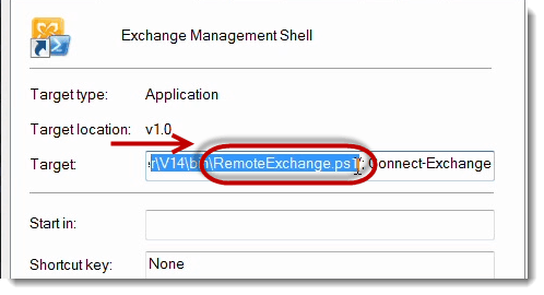Properties PS1 Script Exchange Management Shell (EMS) in PowerShell