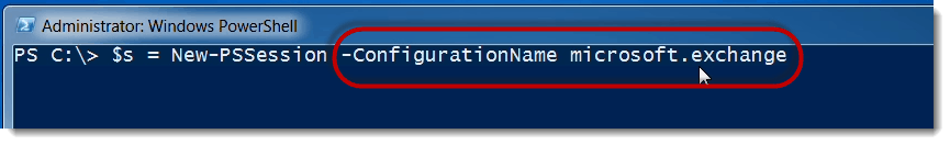 PowerShell Remoting configurationname in Exchange Management Shell