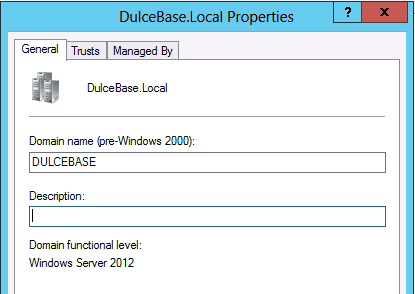 trusts tab Active Directory domain forest level trust in Windows Server