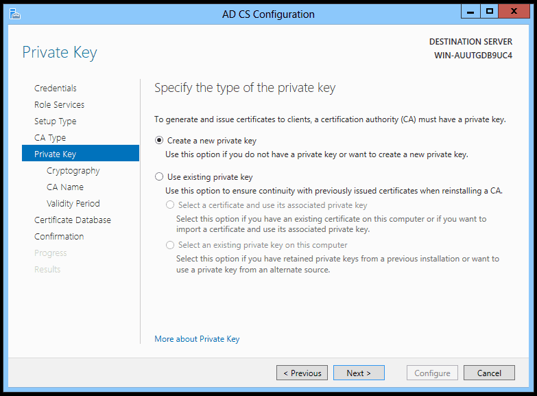 001-Private-Key-AD-CS-Configuration-Windows-Server-2012
