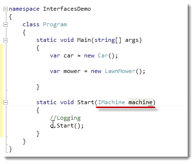 Implement Machine C# Interfaces and Polymorphic Behavior
