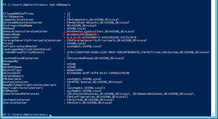 002-Get-ADDomain-PowerShell-rollback-AD-DS-Domain