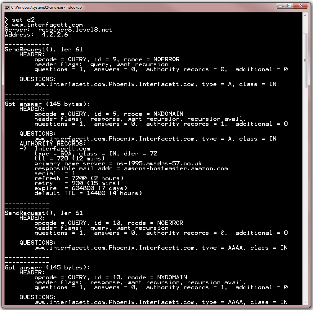 Windows Troubleshooting - Advanced DNS Query Debugging with NSLookup