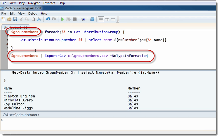 Using PowerShell to report on Distribution Group Membership in