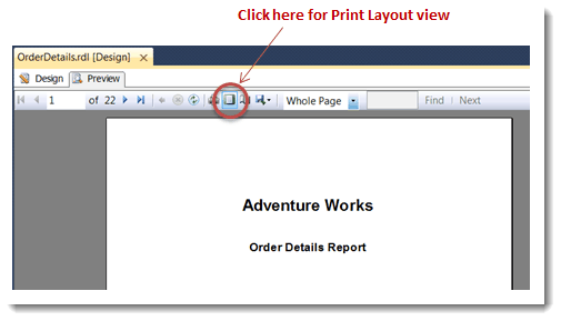 007-priny-layout-view-Cover-Page-for-YourSQL-Server-SSRS-Report