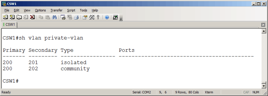 009-vlans-on-CSW1-How-to-Configure-Private-VLANs-on-Cisco-Switches