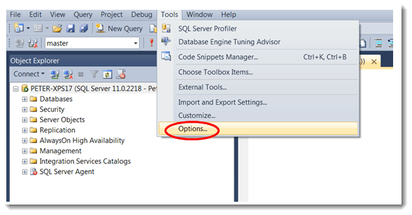 SQL Server - How to Disable Intellisence in SSMS