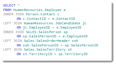 Multiple Joins Work just like Single Joins in SQL Server