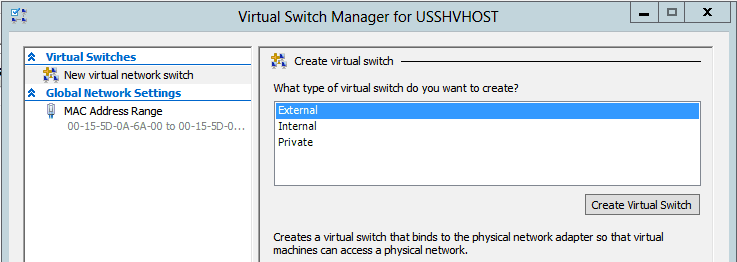 Using your host Virtual Machines running on private Hyper-V