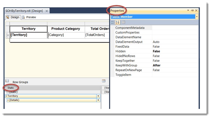 Sql Repeating And Freezing Column Headers In Ssrs Tables