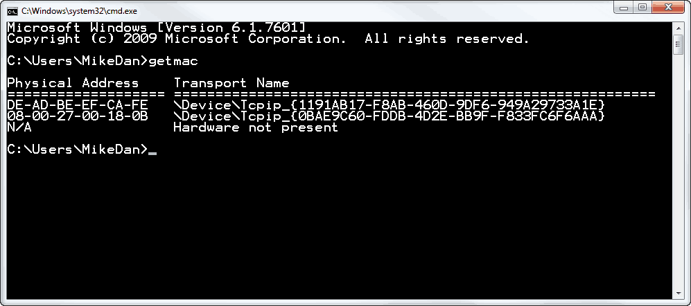 Changing Your MAC Address With Intel Drivers in Windows