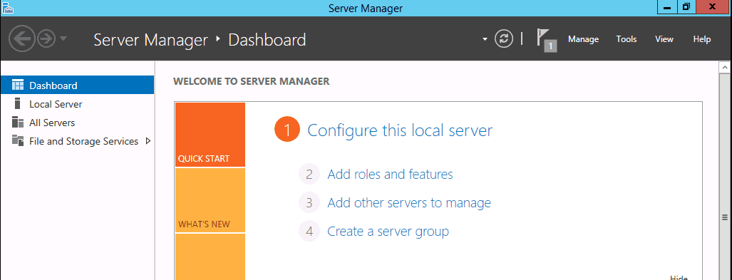 Installing FSRM File Server Resource Manager in Windows Server 2012