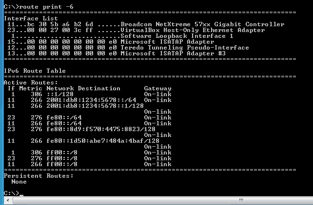More Ipv6 Windows Netsh Commands
