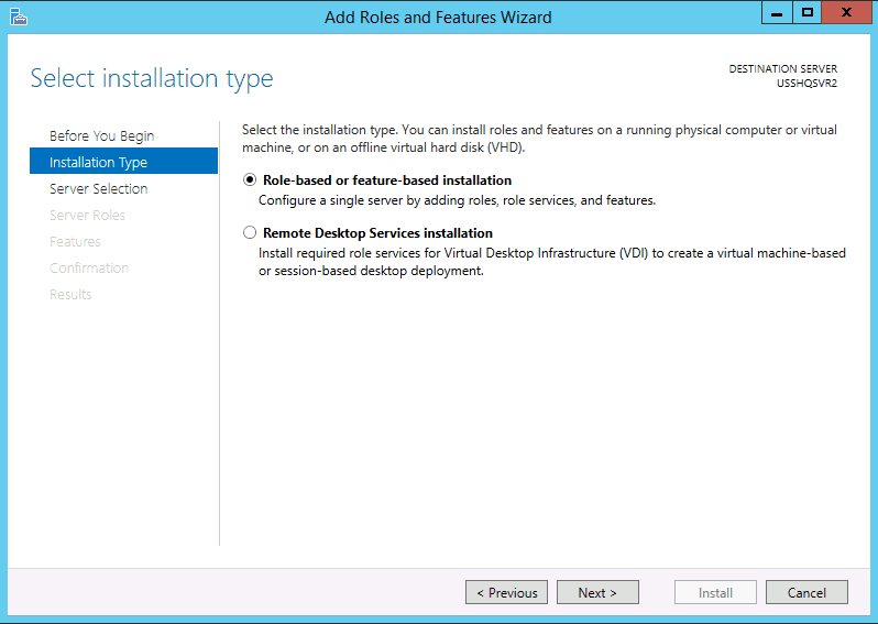 Add Roles and Features Installing FSRM File Server Resource Manager in Windows Server 2012