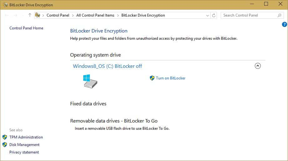 Windows 10 – Exploring Security. BitLocker Drive Encryption