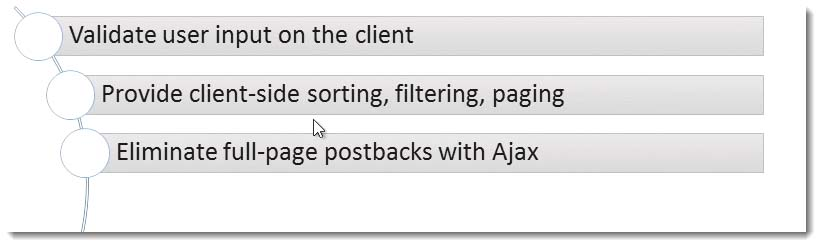 Eliminate full page postbacks with Ajax Learning JavaScript for C# Developers Webinar