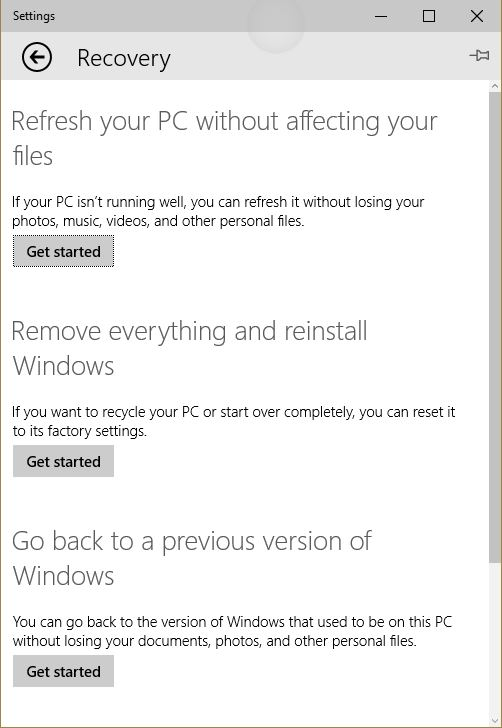 Windows 10 – Exploring Security. Backup Recovery