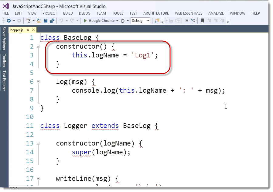 Constructor ECMAScript 6 (ES6) – The Future Look of JavaScript for C# Developers