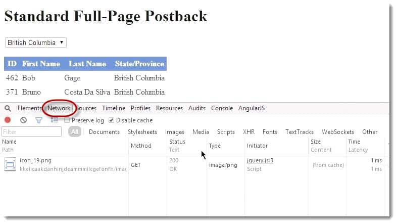 Network Full Page Postback Learning JavaScript for C# Developers Webinar