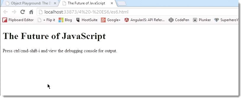 Browser Function ECMAScript 6 (ES6) – The Future Look of JavaScript for C# Developers